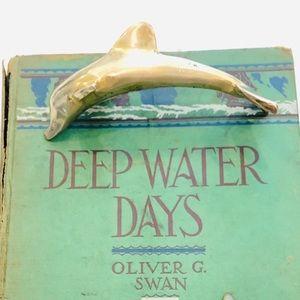 Vtg Brass Dolphin Figurine